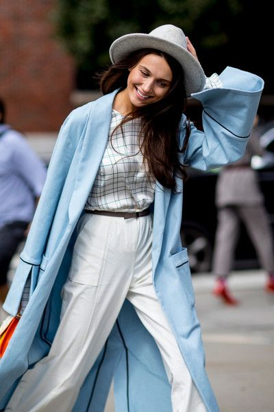 Baby Blue - 60 Creative Outfit Ideas From New York Fashion Week - Photos
