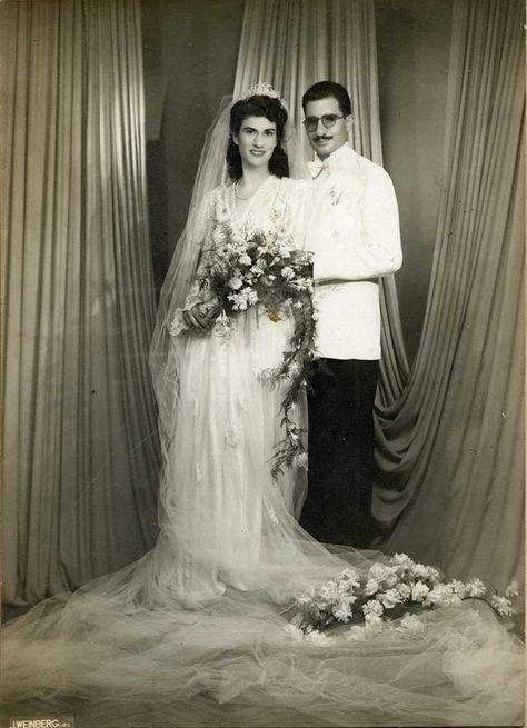 1940s Egyptian Wedding Photo Exhibition A Tale Of Two Photographers Jean Weinberg Photorientalist Wedding Wedding Dresses Vintage Vintage Bride