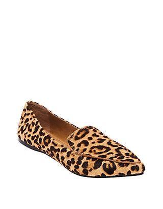 Steve Madden Feather Leopard Flats
