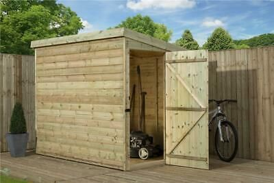 7x4 Garden Shed Shiplap Pent Roof Tanalised Pressure Treated Door Right End Roof Cladding Shed Brick Roof