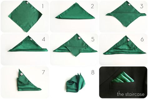 how to fold a staircase pocket square – staircase pocket square – emerald green pocket square Source by Our Reader Score[Total: 0 Average: Related photos:DamentücherNavy Geometric Silk Pocket Square Green Pocket Square, Pocket Square Rules, Men's Pocket Squares, Pliage Pochette Costume, Handkerchief Folding, How To Fold Hankerchief, Suit Pocket Handkerchief, Tie A Necktie, Men Style Tips