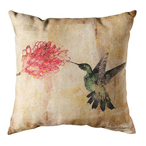 Manual Hummingbird Floral II Decorative Pillow