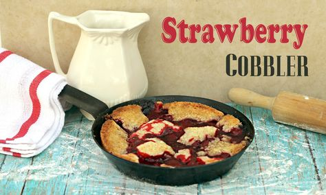 Quick and Easy Strawberry Cobbler