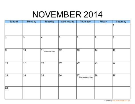 calendar nov 2014 PDF Calendar 2014 u2013 Free Calendar Template - calendar template pdf