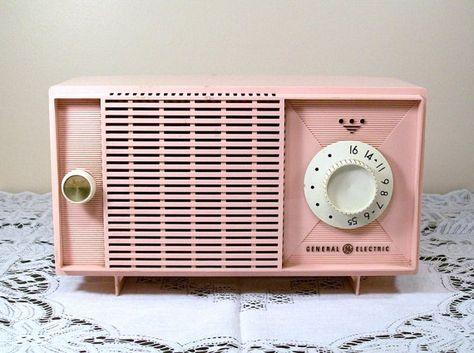 Vintage Pink Radio General Electric 1950s