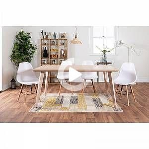 Furniturebox Uk Beaumont Large Oak Effect Dining Table And 6 Stylish Sven Dining Chairs In 2020 Dining Chairs Buy Dining Table Dining Chair Design