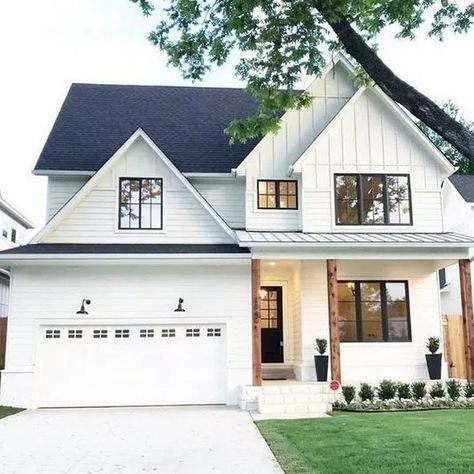✔76 Fabulous Modern Farmhouse Exterior Design Ideas #farmhouseexterior #exteriordesign #modernexterior   ekawer.com