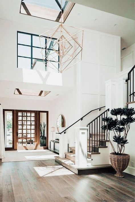 Foyer home house goals aesthetic home interior Mia Bella ♡ Foyer,h. Foyer home house g Dream Home Design, My Dream Home, Home Interior Design, Interior Ideas, Exterior Design, Interior Livingroom, Interior Doors, Modern House Interior Design, Simple Home Design