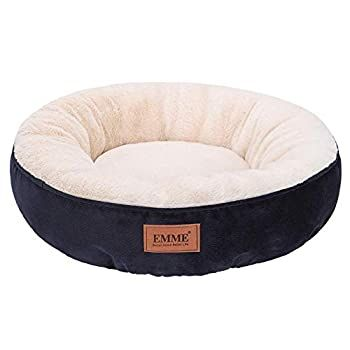 Emme Pet Bed For Cats And Small Dogs 20in Donut Cat Bed Round Shape Dog Beds With Non Slip Bottom Cozy Warming An In 2020 Washable Dog Bed Kitten Beds Dog Bed