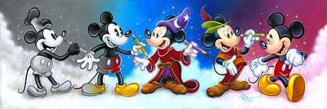 Mickey Mouse Walt Disney Fine Art Tim Rogerson Signed Limited Edition of 195 on Canvas