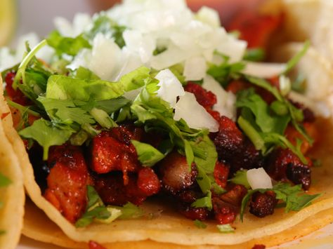 Al Pastor Marinated Pork recipe from Diners, Drive-Ins and Dives via Food Network