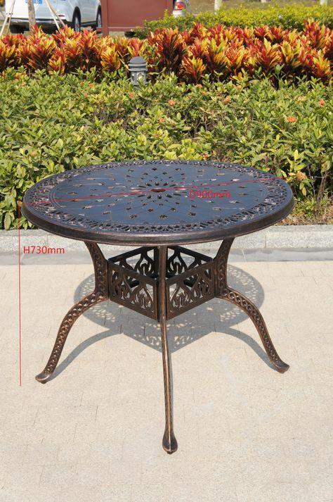 Metal Restaurant Outdoor Garden Funriture Table Chairs