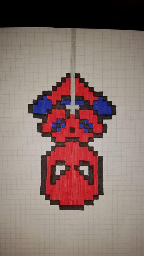 Spiderman pixel art