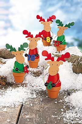 Weihnachtskalender Elch.Adventskalender Elche Mit Süßer Füllung Winter Christmas Crafts