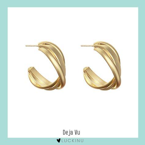Deja Vu 14k Gold Plated Earring $19.00
