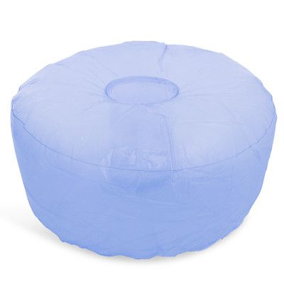 Magnificent Pink Or Blue Inflatable Ottoman 23In X 10In New Apartment Alphanode Cool Chair Designs And Ideas Alphanodeonline