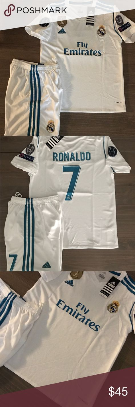 25f42cfe3 Kids kit Real Madrid Ronaldo  7 Soccer adidas Kids kit Real Madrid Ronaldo  7  Soccer adidas Champions league patches adidas Shirts   Tops Tees - Short ...