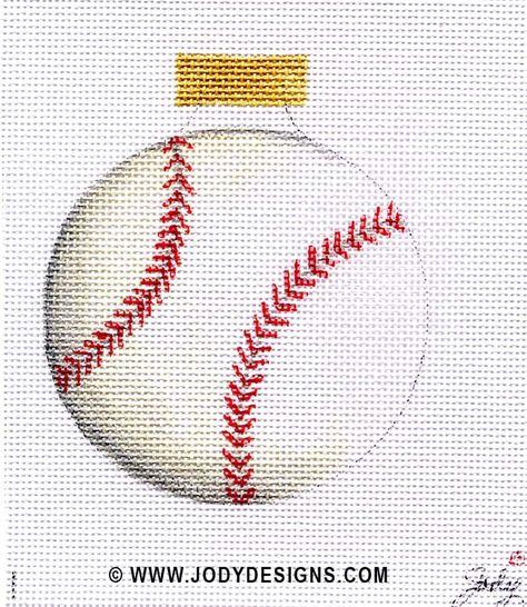 JODY DESIGNS NEEDLEPOINT ORNAMENT  B131 Baseball by JODYdirect, $40.00