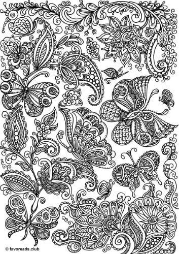 The World Of Butterflies Butterfly Pattern Butterfly Coloring