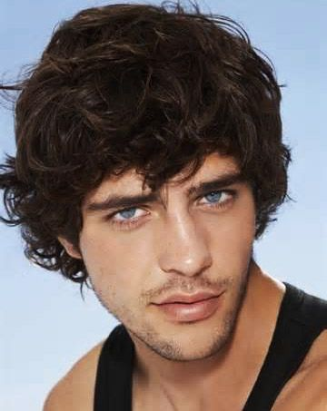Stunning Medium Curly Hair for Men 2014