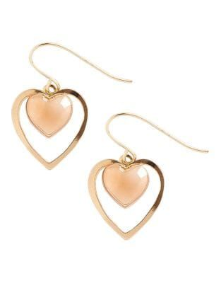 Bay Fine Jewellery 14k Yellow And Rose Gold Two Heart Drop Earrings 125 00 Now 81 25 Heart Drop Earrings Fine Jewelry Drop Earrings