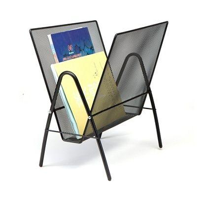 Mind Reader 1 Pocket Metal Mesh Freestanding Magazine Rack