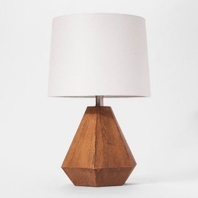 Wooden Table Lamp Includes Led Light Bulb Cloud Island Brown In 2021 Wooden Table Lamps Table Lamp Lamp