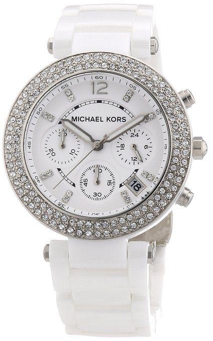 Michael Kors Damen-Armbanduhr Parker Chronograph Quarz Keramik MK5654
