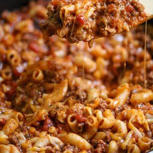 Easy Cheesy Beef Goulash Recipe Video Lil Luna Recipe Goulash Recipes Easy Goulash Recipes Beef Goulash