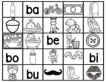 Ba Be Bi Bo Bu Silabas Espanol