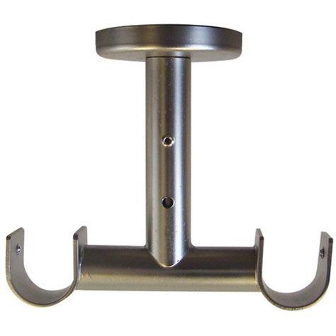 Support Double De Tringle A Rideau Pour Plafond Horsesteel Diam 20 Mm Gris Tringle Rideau Tringle Rideau Plafond Rideaux