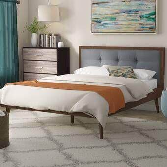Abril Tufted Solid Wood And Upholstered Low Profile Platform Bed Wood Platform Bed Upholstered Platform Bed Upholstered Storage