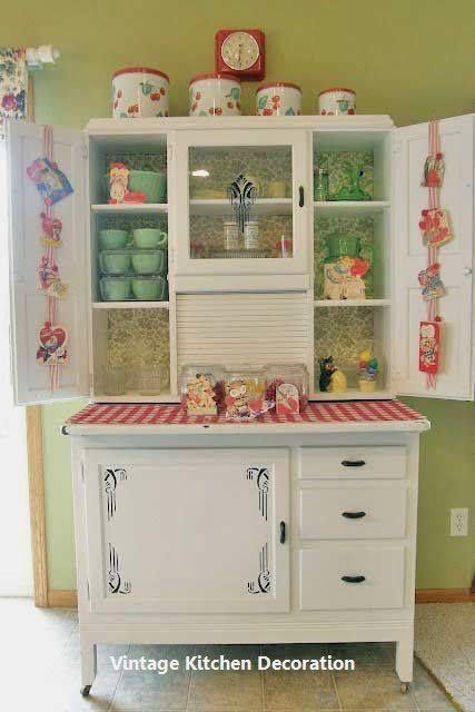 New Vintage Kitchen Ideas Vintagekitchendecor Vintage Kitchen Decor Hoosier Cabinets Antique Kitchen