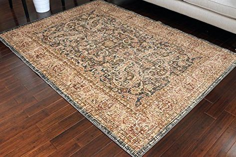 Amazon Com Rustic Collection Antique Style Wool Exposed Cotton And Jute Oriental Carpet Area Rug Rugs Charcol Rust Beige 701 Oriental Area Rugs Rugs Area Rugs