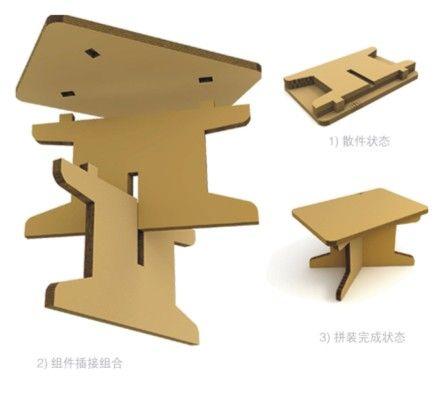 Cardboard Knockdown Table 书桌