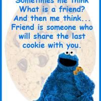 What Is A Friend Cookie Monster Quote