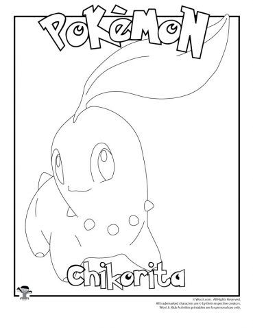 Chickorita Coloring Page Woo Jr Kids Activities Pokemon Coloring Pages Pokemon Coloring Coloring Pages