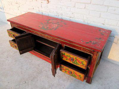 Antike Möbel Flache Kommode Im Chinesischen Stil Antike