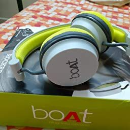 Boat Super Bass Rockerz 400 Bluetooth On Ear Headphones With Mic Grey Green Amazon In Electronics Headphone With Mic Headphones In Ear Headphones