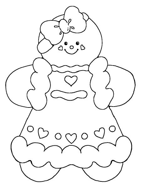Gingerbread Cute Baby Girl Coloring Pages - Gingerbread Coloring - gingerbread man template