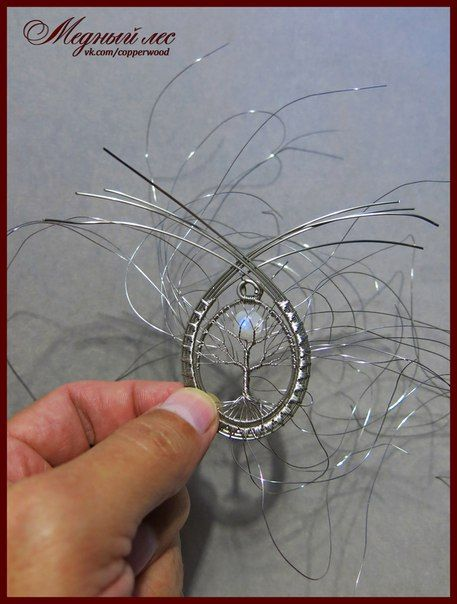 Pendant Made Of Wire And Stone With Your Own Hands   66