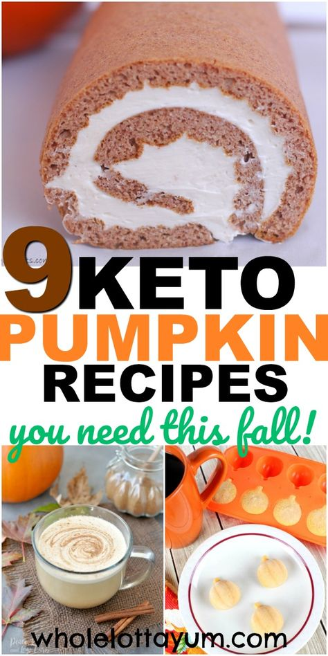 9 healthy pumpkin recipes that are also low carb and are keto pumpkin recipes too. Whether you're craving pumpkin fat bombs, a keto pumpkin spice latte, or other healthy pumpkin desserts, you'll love…More 8 Indulgent Sugar Free Dessert & Sweets Recipes Keto Friendly Desserts, Diet Desserts, Low Carb Desserts, Low Carb Recipes, Healthy Pumpkin Desserts, Keto Snacks, Pumpkin Recipes Low Carb, Cheap Recipes, Easy Snacks