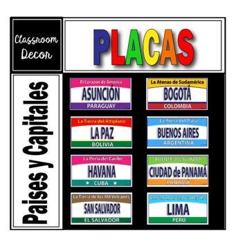 Are Your Students Aware Of All The Places Where Spanish Is Spoken Do They Know The Name Of The Countries And Their Capitals D License Plate Spanish Awareness