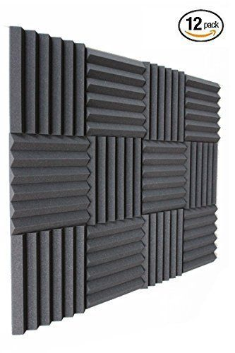 12 Pk 1 X12 X12 Charcoal Soundproofing Foam Slim Acoustic Foam Wall Panels Tiles Studio Foam Sound Proof Padding Enhance S Studio Foam Sound Proofing Foam