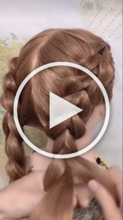 Braided Hairstyle For Long Hair Video Tutorial Simple And Beautiful In 2020 Cute Hairstyles For Short Hair Braids For Long Hair Easy Hairstyles For Long Hair
