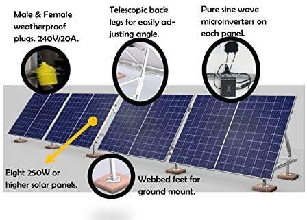 Amazon Com Solarpod Solar Pv System 960 Watts 4 Panels Model 1001 Home Improvement In 2020 Solar Panels For Home Solar Pv Systems Roof Solar Panel