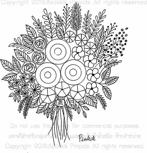 نقاشی طراحی گل ساده