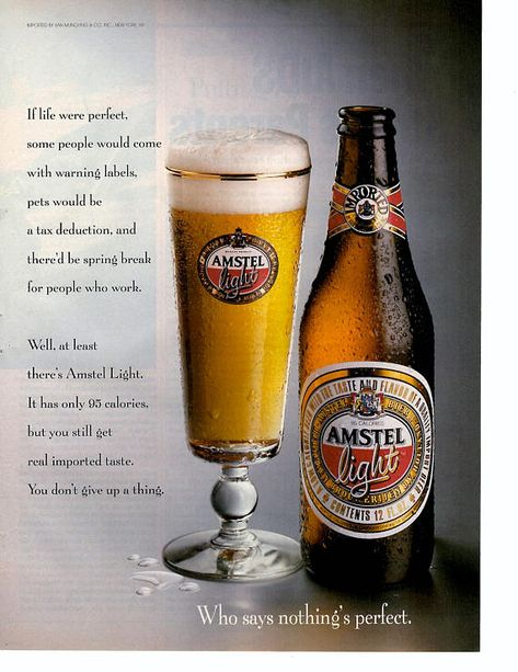 1993 Amstel Light Beer Vintage Magazine Ad Vintage Beer Beer