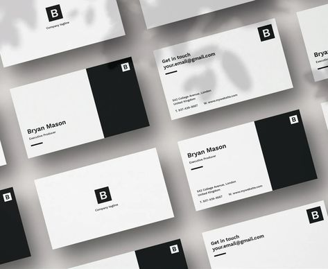 Black And White Business Card Template Business Card Design Black Professional Business Card Design Business Card Template Design