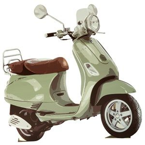 """The Vroom Vroom Vespa Kit makes a fun decoration or can be used as a unique prop for photo opps. Scooter silhouette measures 52"""" high x 47"""" wide x 9"""" deep."""